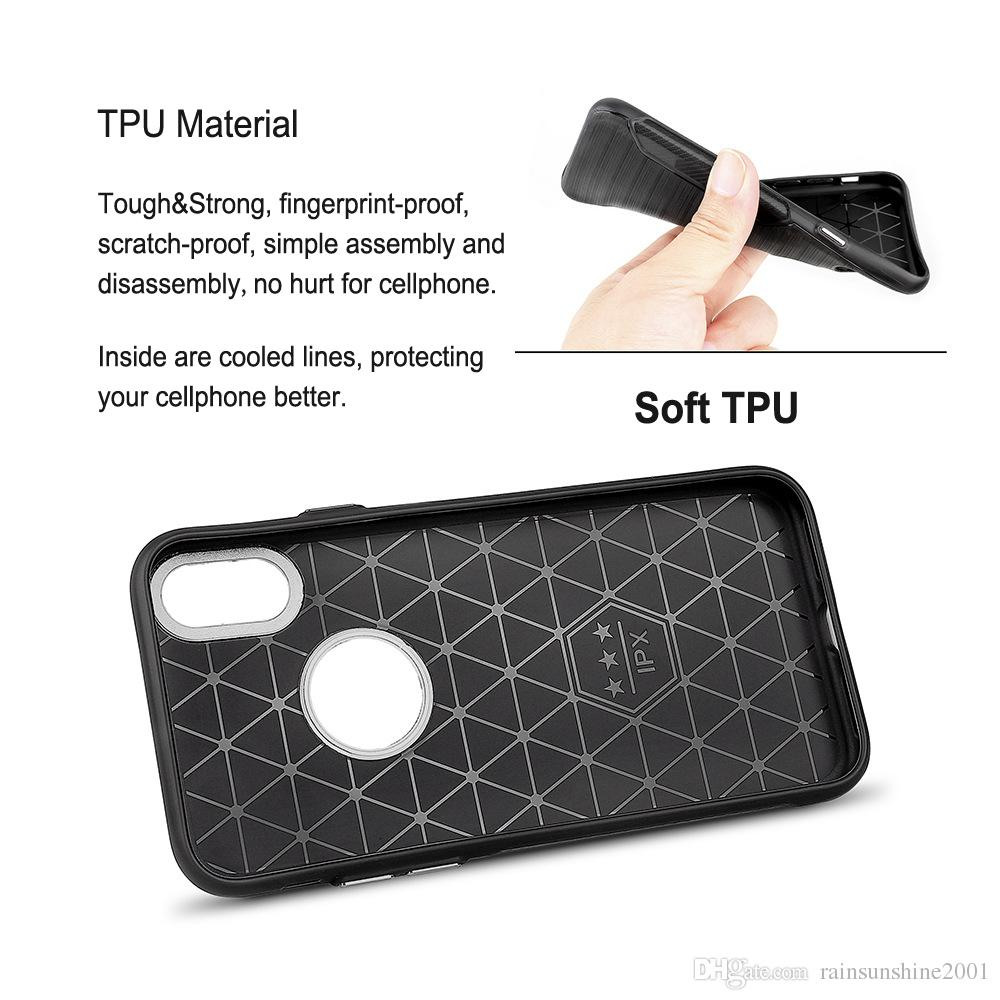 For iPhone X Mobile Phone Protective Cover Skin Metal plating circles 100% fit TPU Skid-proof, scratch-proof, fingerprint-proof case