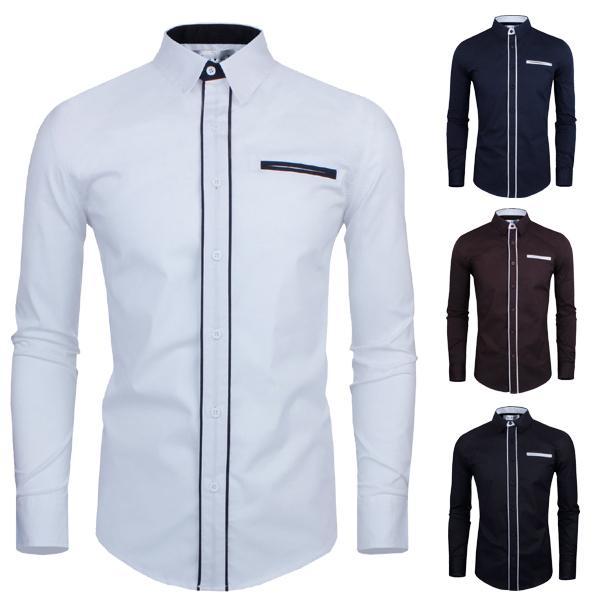 2017 New Shirt Men 2015 Fashion Design Long Sleeve British Style ...