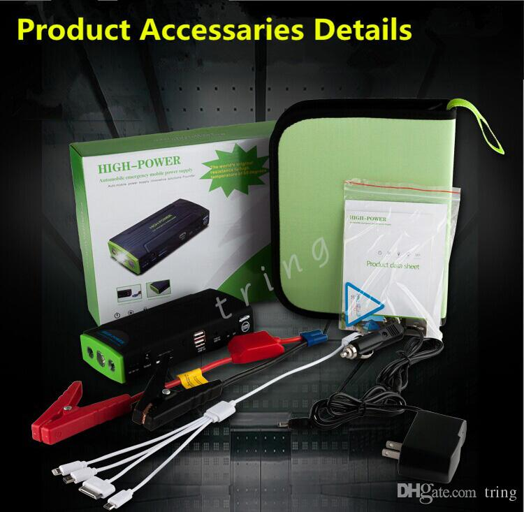 Portable Car Jump Starter 38000mah Emergency Start 12V Engine Multi-Function Car Charger Power Bank for laptop/notebook Battery Charger