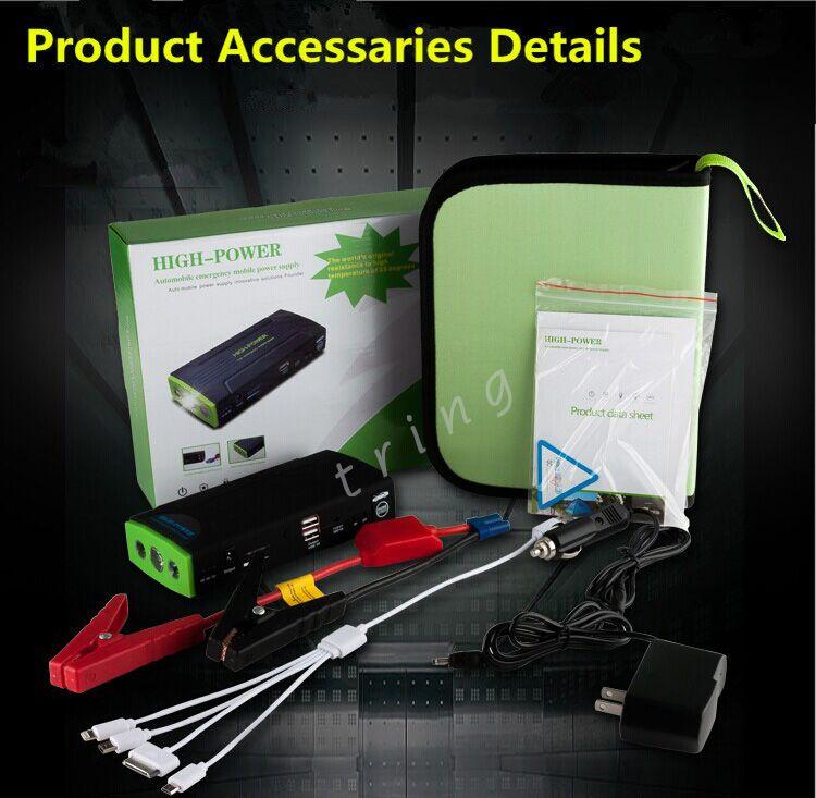 Taşınabilir Araba Atlama Marş 38000 mah Acil Başlangıç 12 V Motor Çok Fonksiyonlu Araç Şarj Güç Bankası laptop için / dizüstü Pil Şarj
