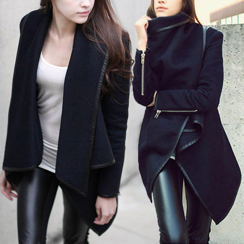 Womens Thicken Warm Winter Trench Coat Parka Overcoat Long Jacket ...