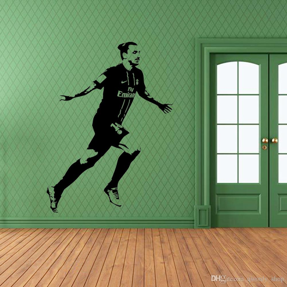 Filigree Football Wall Stickers Wall Art Stickers Sustom Name Can Customize Your Own Name Home Decor Zlatan Ibrahimovic