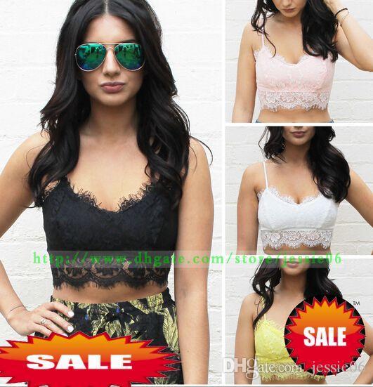 Mode Sexiga Kvinnor Spets Tankar Slim Camis Toppar Tees Beach Badkläder Kläder Presenter