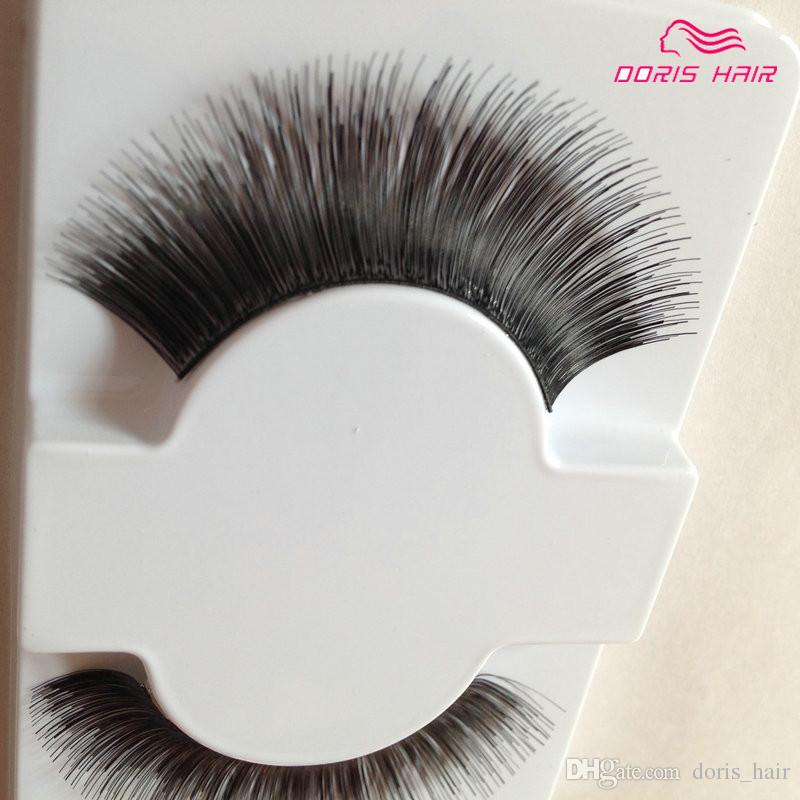 False Eyelashes human hair Natural OR Thick Fashion Lash Blink Black Full Strip Fake Lashes Makeup Tool