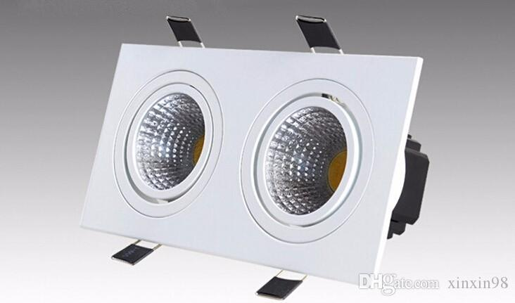 AC85-265V 20W square Double cob Dimmable led down lamps Warm white/White/cold white led ceiling light lamp With Led Driver
