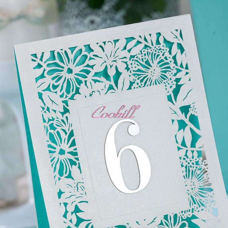 5X Laser Cut Wedding Table Numbers Number Cards Baby Shower Table ...