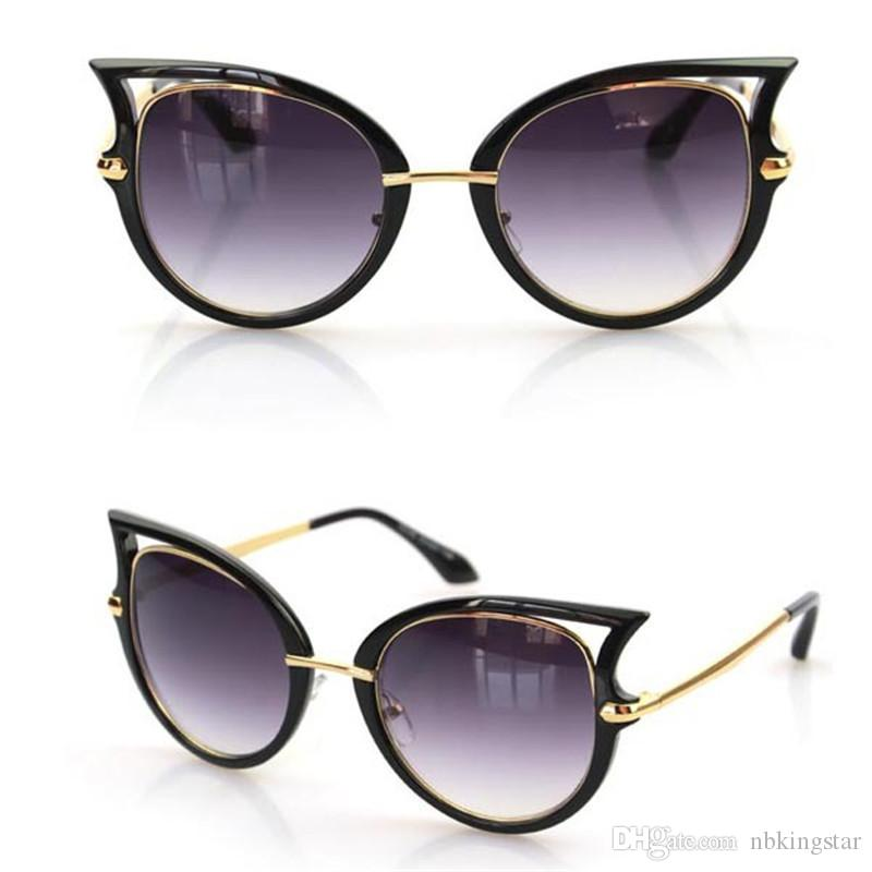 9a4f5573a68 New Vintage Fashion Summer Sunglasses Ladies Star Style Cat s Eye ...