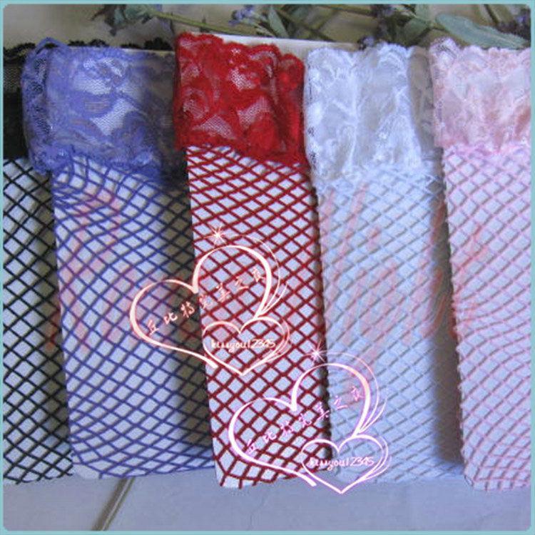 Medias ultrafinas con malla de malla sexy con encaje, Medias de lencería sexy para mujeres, Traje erótico