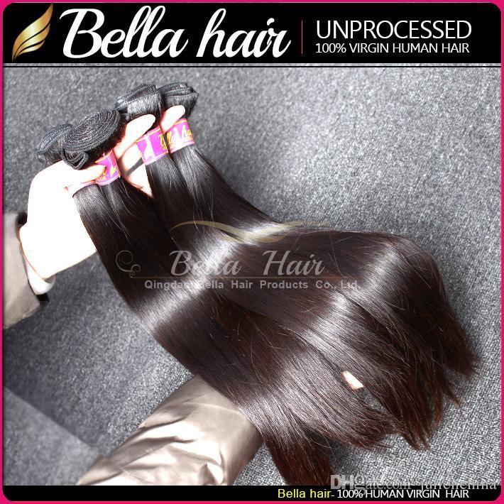 Bellahair® 공장 도매 브라질 머리 실키 스트레이트 똑바로 인도 번들 말레이시아 페루 버 르 버 헤어 8-34inch