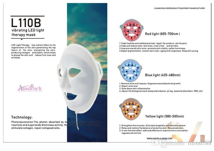 New Arrival light therapy LED Facial Mask Photon Skin Care PDT Facial Rejuvenation Acne Wrinkle Removal machine
