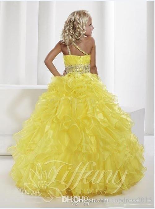 Fashion week Flower yellow girl dresses cheap for woman