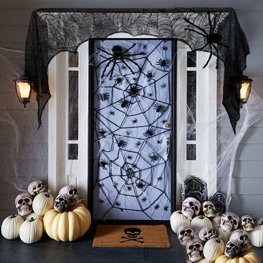 Wunderbar Amerikanischer Kamin Foto Von Großhandel Schwarz Spinne Mantel Schal Halloween Dekorationen