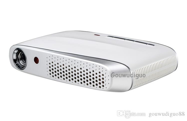 2018 New 8500lumens DLP Projector Home Theater 300Inch LED Projector Full HD 3D Android 4.4 Bluetooth International Edition WiFi Projector