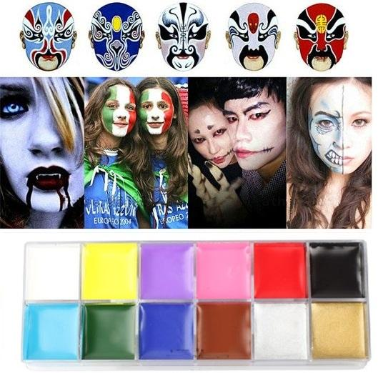 Face Body Paint For Halloween Makeup Waterproof Oil Painting Art ...
