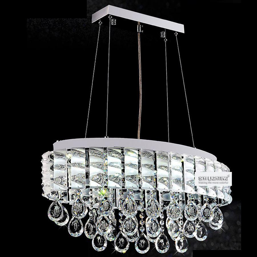 Modern ttp k9 led crystal pendant lamp circle oval crystal dining modern ttp k9 led crystal pendant lamp circle oval crystal dining room light fixtures rain drop home lighting semi flush ceiling lights contemporary mozeypictures Image collections