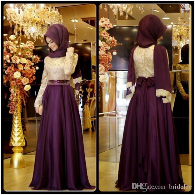 Long sleeved evening dresses hijab