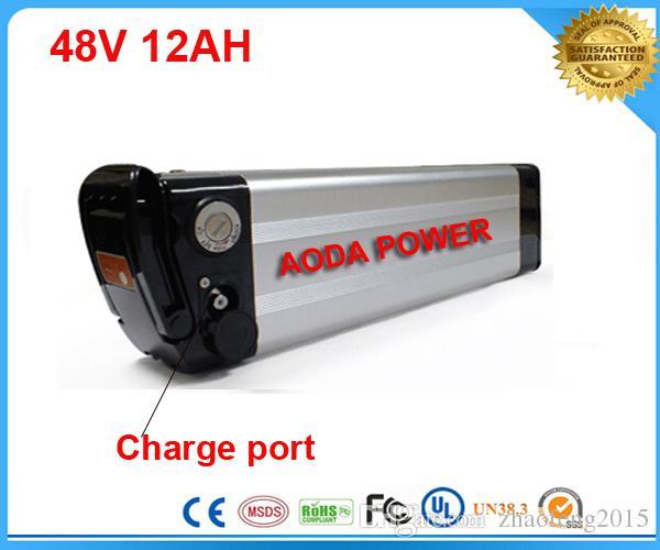 высокомарочная реальная батарея Иона li велосипеда батареи 48V 12AH лития емкости электрическая с BMS ,заряжателем