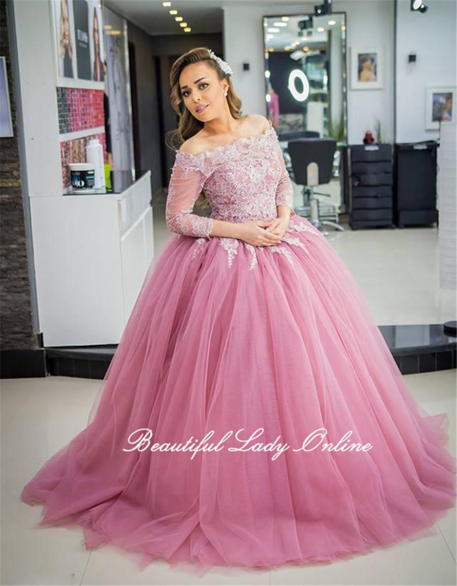 Compre Vestidos De Baile De Tul De Puffy Vestidos De Fiesta Con ...