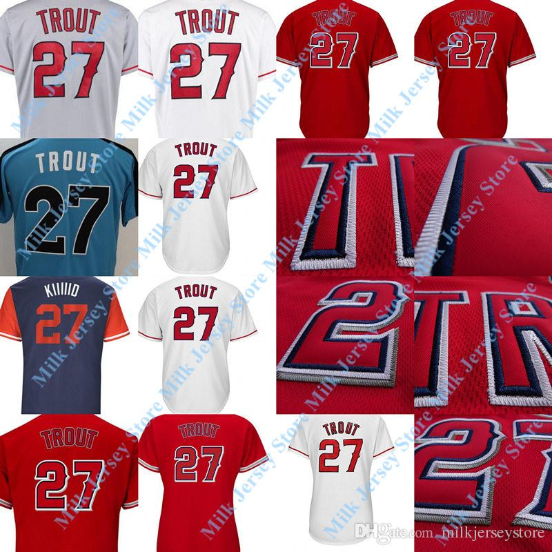pretty nice 2652f 615b1 sale red mike trout jersey 156c8 bc04a