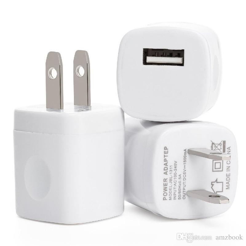 5V 1A US USB AC Cargador de pared Home Travel Charger Adapter Mini cargador USB Para Samsung Smartphones mp
