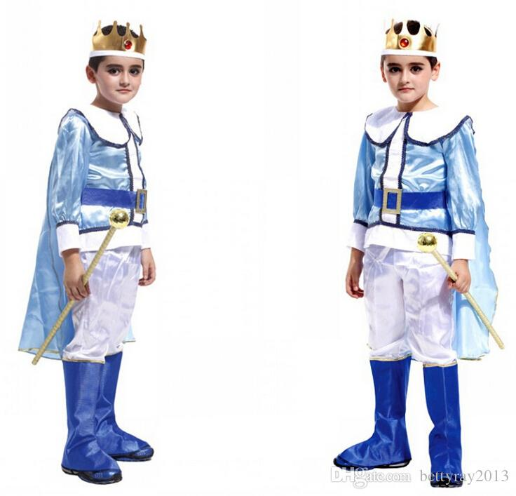 the emperors new groove cosplay costume for kids the king halloween costumes childrens day boys prince clothing asiansize m xl group costume disco