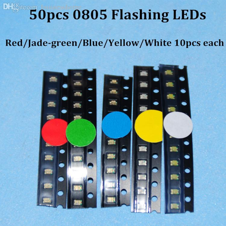 1000pcs X Yellow Red Warm White Jade Green Blue Pink Water Clear Led Piranha Square Flat Top Super Flux Light Diode Led Diodes Active Components