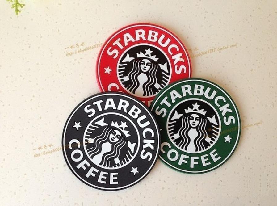 Table decoration Starbucks logo Mermaid silicone coaster round platemat cup coffee mug mat pad black red green