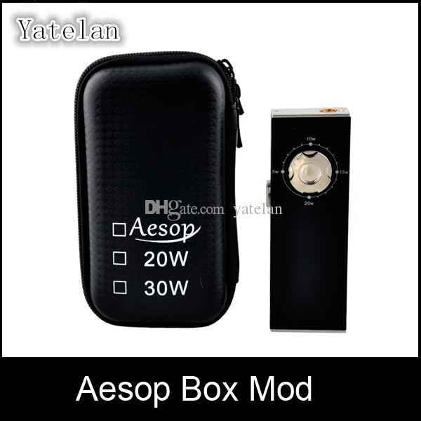 Aesop Box Mod 20w Mechanical Mod Built in 18650 Battery 5W~20W Aluminum  alloy Shell Produce huge vapor Various color VS Istick Cloupor Mod