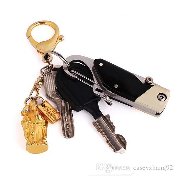 Yeni Mini Cep bıçak Mini Anahtar Toka Katlanır Bıçak Açık Survival Araçları Paslanmaz Çelik Bıçak Ahşap Kolu Ücretsiz Kargo