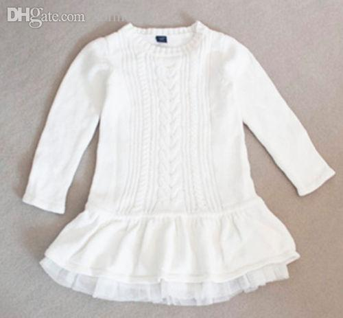 Acheter Wholesale Baby Girls Toddler Sweat Blanc Organza Pullover