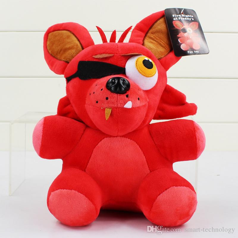 25cm cinco noches en Freddy Fazbear oso Bonnie Foxy pato globo de la muchacha del muchacho del globo felpa rellena muñecas juguetes del cabrito