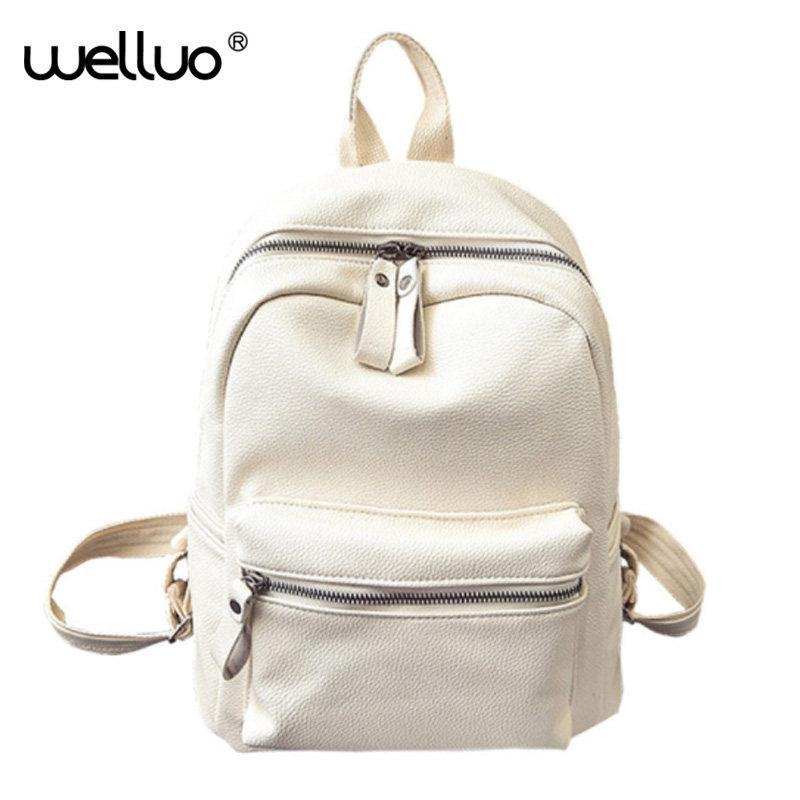 341ddcfe4ebe Sweet College Wind Mini School Bag High Quality PU Leather Preppy Style  Fashion Girl Candy Color Small Casual Backpack XA384B