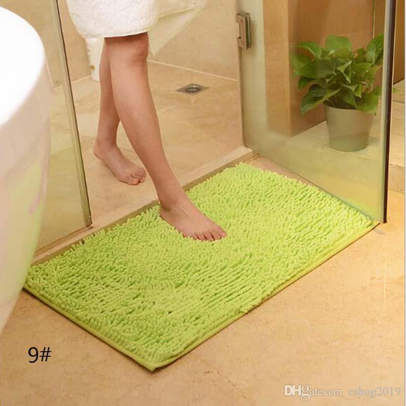Mutfak Toliet Için 15 Renkler Banyo Paspas Süper Yumuşak Kaymaz Banyo Halı Emici 40 * 60 cm Banyo Kilim Yatak Odası Halı Dikdörtgen Halı