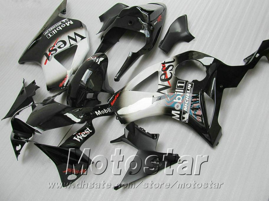 Injection molding 7 gifts + Fit for Honda cbr900rr fairings 954 02 03 CBR954RR white black West fairing kit CBR900 RR 2002 2003 YR53
