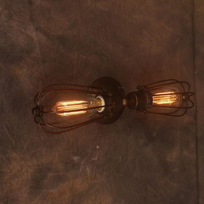 Online cheap industrial dimmer vintage wall lamp personalized online cheap industrial dimmer vintage wall lamp personalized bedside lighting with 2 brown iron cage e27e26 edison bulbs by pedgelin dhgate aloadofball Image collections