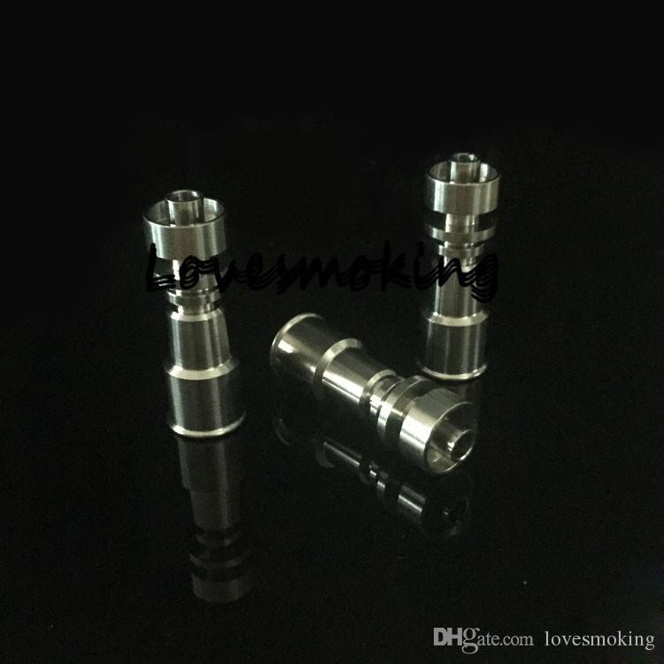 Gr2 женский 10 мм / 14 мм и 14 мм / 18 мм электрический Domeless Титана ногтей двойной функции 2 в 1 катушки E Титана курить аксессуары