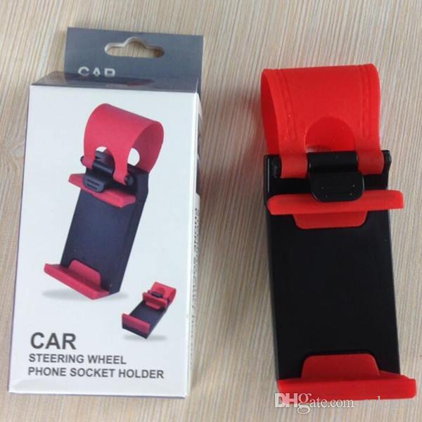 Support de prise de téléphone pour téléphone universel pour volant de ceinture de fixation pour iPhone 6 4S 5 5S Galaxy S6 5 4 Note 4 3 A5 Z3 T3 Téléphones cellulaires