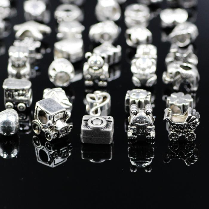 Mescoli il branello allentato dei fori del grande foro di stile 29 il braccialetto dei gioielli di Pandora DIY il braccialetto europeoNecklace