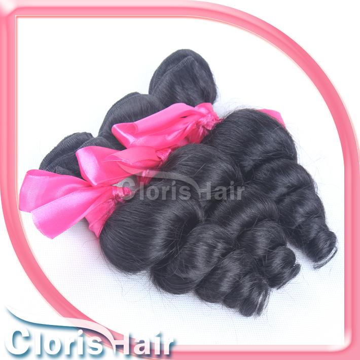 Loose Curly Wave Peruvian Hair Unprocessed Remi Human Hair Extensions Wholesale Peruvian Loose Curl Weft Bundles