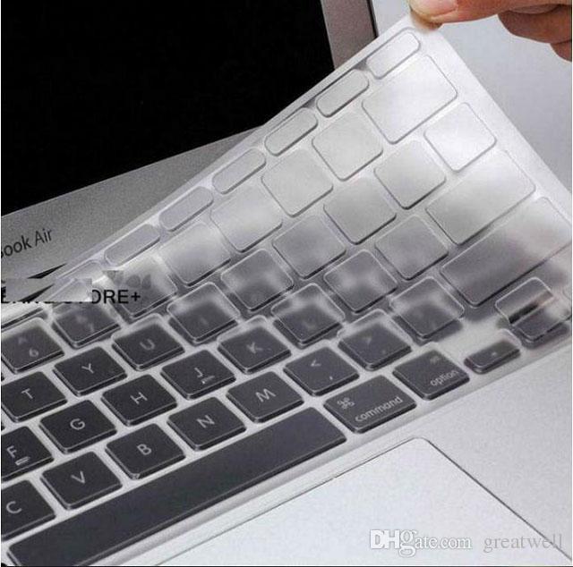 TPU Crystal Guard Keyboard Protector de piel Ultrathin Clear Transparent Film MacBook Air Pro Retina 11 13 15 Impermeable