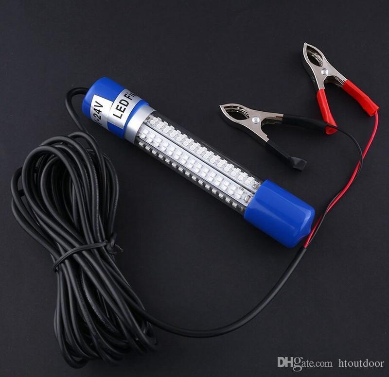 12V-24V 8W 180LEDs Fishing Lure Night Light Underwater Boat Submersible Baits Bulb Fish Squid Lamp