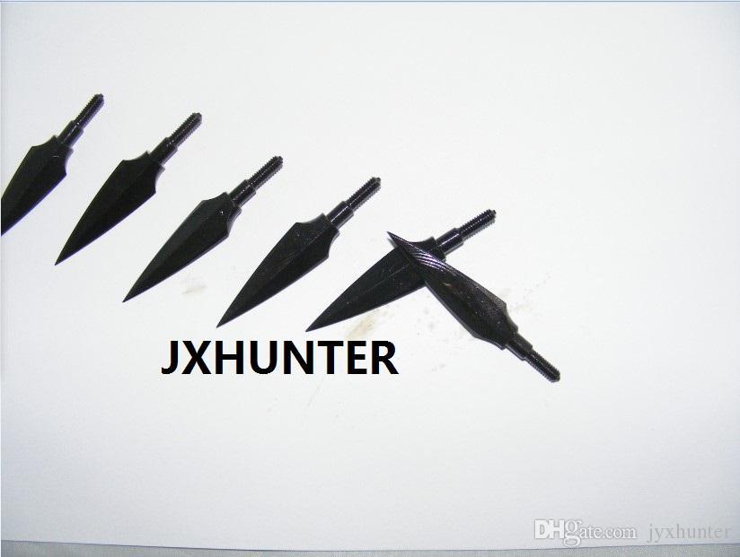 12 pezzi tiro con l'arco da caccia punti freccia tradizionali 150 punte vintage da grana caccia con arco compound colore nero