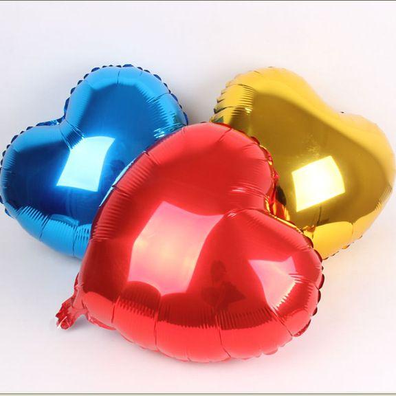 "18"" Foil Balloons Love Heart Shape Balloon Propose Balloon Wedding Valentine's Day Decorative Balloon Random Colour Shipping"