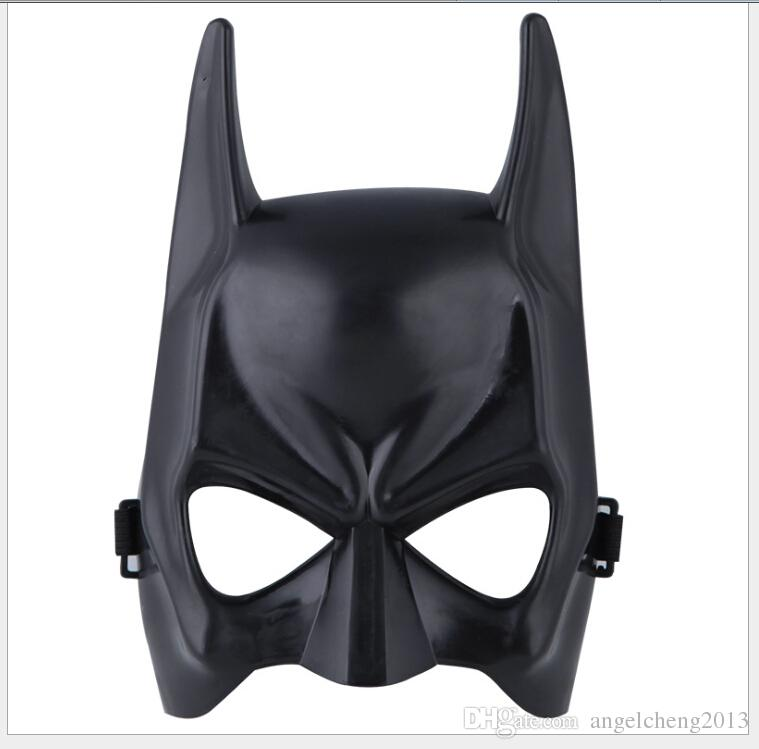 DHL Shipping Free Black Half face Batman Masks Halloween Masquerade Party Face Mask One Size Fit For Child and Adult