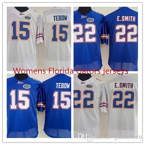 timeless design cb7d5 51881 Womens Florida Gators E.Smith 22 Tim Tebow 15 College Football Jersey -  Royal Blue white size S-XXL free shipping
