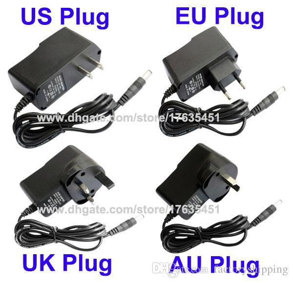High Quality AC 100-240V to DC 12V 1A Power adapter Supply US / EU / UK / AU Plug with IC Program DHL