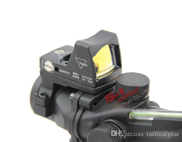 Tactical ACOG 4x32 Rifle Scope z RMR Micro Red Dot do polowania na czarno g