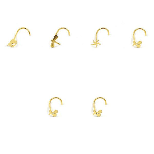 الجملة شخصية شعبية الأوروبية والأمريكية 316L الفولاذ المقاوم للصدأ ثقب الذهب الأنف مسمار الأنف الدائري ثقب المجوهرات Epacket الحرة.