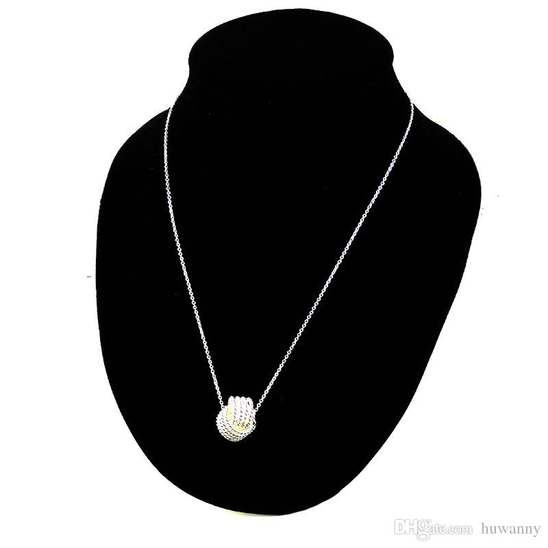 Top Grade Silver Jewelry Sets New Fashion Hot Sale Earrings Pendants Necklaces Set for Women Girl Gift Wholesale 0003YDH