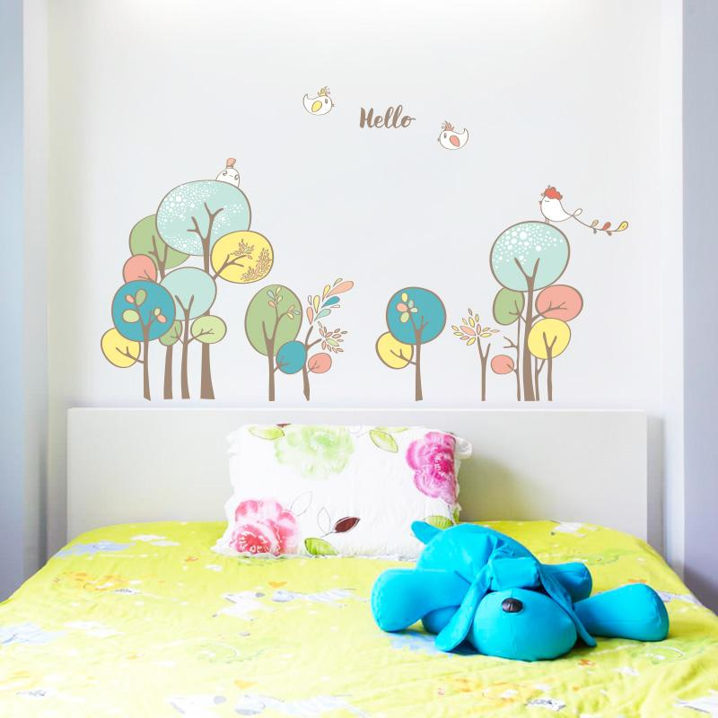 green forest wall decal sticker home decor diy removable art vinyl